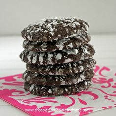 Dark Chocolate Tiger Cookies-using Special Dark Hershey's Cocoa makes all the difference in these cookies!