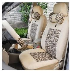 Girly Car Seat Covers Cute Funky Leopard