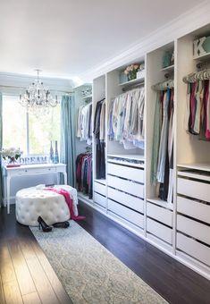 Ikea Closet Makeover Home 61 Ideas Walk In Closet Design, Bedroom Closet Design, Master Bedroom Closet, Closet Designs, Bedroom Inspo, Bedroom Storage, Spare Room Walk In Closet, Bedroom Ideas, Walking Closet