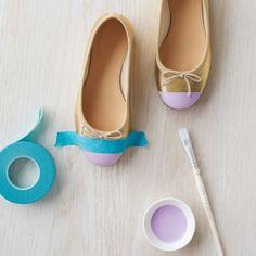 DIY Flower Girl Shoes for the wedding #marthastewartcrafts