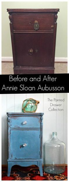 Before and After in Annie Sloan Aubusson