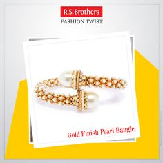 #FashionTwist Try this trendy Gold finish #PearlBangle. Add an instant glamour to your party attire by wearing this trendy accessory. Women would love to flaunt this pretty jewelry piece and make a fashion statement without much effort.