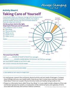 Mental Health Activity Worksheets