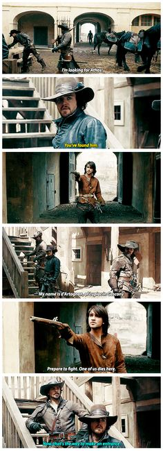 The way to make an entrance. (The Musketeers - 1x01 - Friends and Enemies)