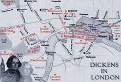 Dickens' London Map: http://achristmascarollondon.com/dickens-london-map.aspx