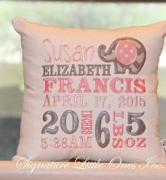 Elephant Birth Announcement by SignatureLittleOnes on Etsy