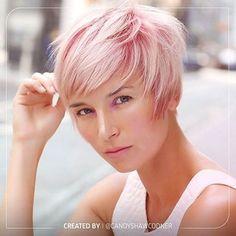 Short Pink Hair #short #pixie #pink