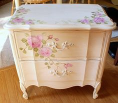 French Painted night stand | Flickr - Photo Sharing!
