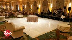 Custom White Wrapped Dance Floor