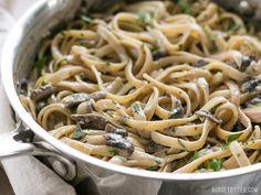 Creamy Mushroom Herb Pasta - Budget Bytes