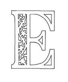 вытынанка русские буквы алфавит трафарет е