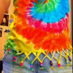 Tie dye fringe shirt :) (for @danyonky danyelephnt )