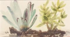 Small Words, Northern California, Saatchi Art, Studios, Watercolor, Landscape, Abstract, Plants, Painting