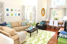 Bright & Cheery Living Room contemporary-family-room