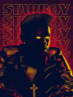 Art print tribute to The Weeknd's latest album, Starboy. : graphic_design