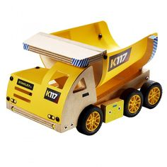 This dump truck is a fun project to work on with your child or grandchild!
