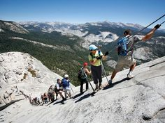 Hike Half Dome, Yosemite National Park, California. (One of National Geographic Adventure's 20 Best National Park Hikes.)