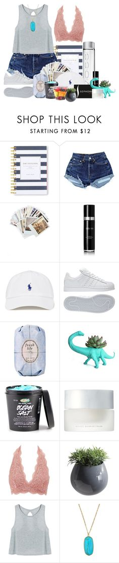 """""""First day of school for my sis"""" by petalprada ❤ liked on Polyvore featuring Day Designer, Chronicle Books, 111Skin, Sephora Collection, adidas, Fresh, SUQQU, Charlotte Russe, Dot & Bo and Panacea"""