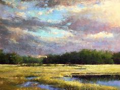 Marsh Golds by Jacob Aguiar Pastel ~ 18 x 24