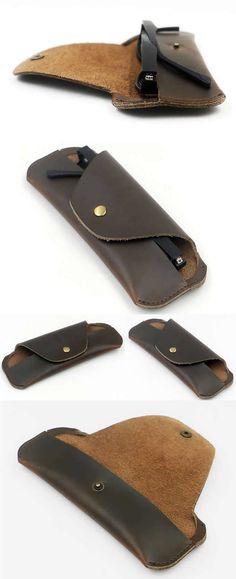 genuine leather sunglasses eyeglass Holder case box glasses Holder case