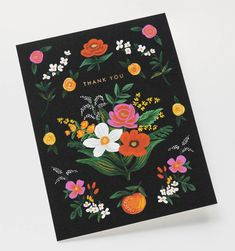 Orangerie Thank You Available as a Single Folded Card or Boxed Set of 8