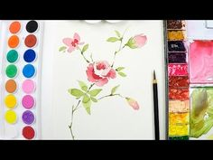 [LVL3] Flower painting tutorial - Step by step - YouTube