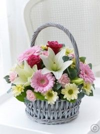 Same day flower delivery Garforth by The Flower House Florist your local flower shop, send flowers, wedding flowers & funeral flowers. New Baby Flowers, Rare Flowers, Beautiful Flowers, Exotic Flowers, Basket Flower Arrangements, Floral Arrangements, Birthday Basket, Cemetery Flowers, Hand Bouquet