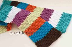 Multicolored Scarf - good for using up worsted weigh stash