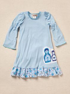 Blue Matryoshka Dress by Twirls and Twigs on Gilt.com
