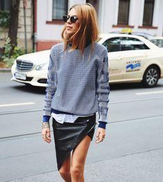 maja wyh in leather + stripes