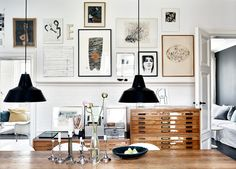 #frames #posters #collection | doldskatt_matplats_tavelvagg | ELLE Decoration