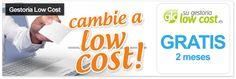 Gestoría low cost con Sugestorialowcost.es - 2 meses totalmente gratis