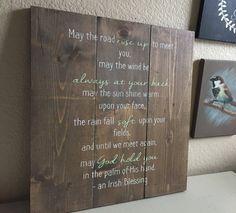 Een Ierse zegen - rustieke houten teken