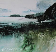 Raggle rocks and Gateholm Mixed-Media 280mmx300mm