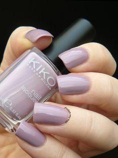 KIKO Shade 510 - muted purple / mauve #nail polish / lacquer / vernis, swatch / manicure