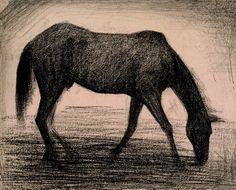 Georges Seurat   Le Cheval Noir   1882   The Morgan Library & Museum