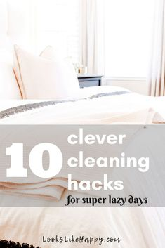 10 Clever Cleaning Hacks for Super Lazy Days - Looks Like Happy  #cleaning #cleaninghacks #cleaningtips #lifehacks #hacks