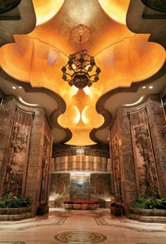 The VIP Hotel Lobby at MGM MACAU-Beautiful Interior Lighting, Luxury Interior, Interior Architecture, Lobby Lounge, Hotel Lobby, Lobby Design, Design Hotel, Clinic Design, Hotel Interiors