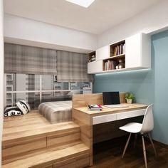 Идеи дизайна маленькой квартиры: кровать-подиум | дневник архитектора | Яндекс Дзен