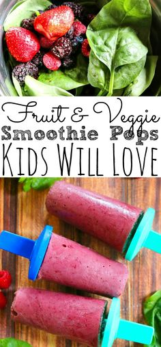 Delicious Hidden Veggie Smoothie Pops Simply Today Life : Looking for a delicious hidden smoothie recipe for picky eaters? This Fruit and Veggie Smoothie Pops are perfect for kids! Filled with fruit and hidden veggies perfect for toddlers, kids, and even Smoothie Bowl Vegan, Smoothie Popsicles, Vegetable Smoothies, Apple Smoothies, Breakfast Smoothies, Healthy Meal Prep, Easy Healthy Recipes, Eat Healthy, Snack Recipes