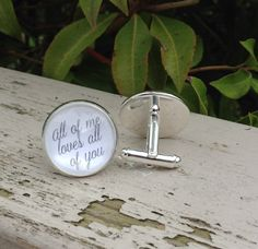 Groom Cufflinks Wedding Cufflinks All of Me by OverTheMoonBridal