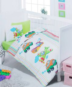 Vehicles Cot Linen Set by Cute Babies - Bedding for Babies and Kids on #zulilyUK today!