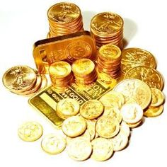 gold coins and bars - Google Search