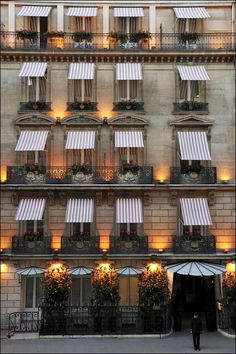 paris hotel. i love the awnings so much. :)