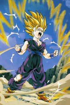 SSJ2 Gohan, third favorite chatacter. Under vegeta and picillo.