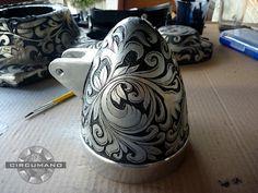 Sensacional trabalho de engraving em farol custom