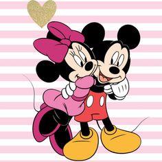 Minnie giving a hug to her sweetheart Mickey.