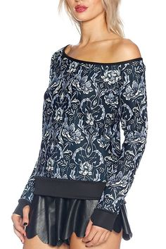 Mono Nouveau Off the Shoulder Sweater