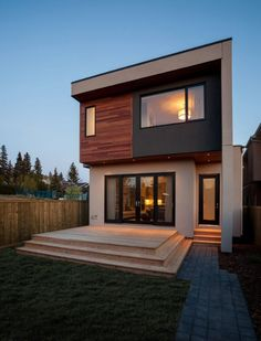 ✔ 39 new modern exterior design ideas for your house 19 – House Design Ideas Modern Small House Design, House Front Design, Minimalist House Design, Modern Contemporary House, Small Modern Houses, Modern Minimalist, Modern Exterior, Exterior Design, Cafe Exterior