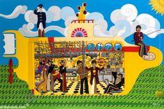 Yellow Submarine - Kid 101 yellow submarine - Yellow Things Original Music, Original Art, Original Paintings, Yellow Submarine, Music Painting, Conceptual Art, Liverpool, Surrealism, Buy Art